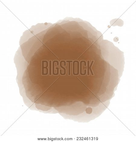 Soft Brown Watercolor Background. Abstract Background For You Design