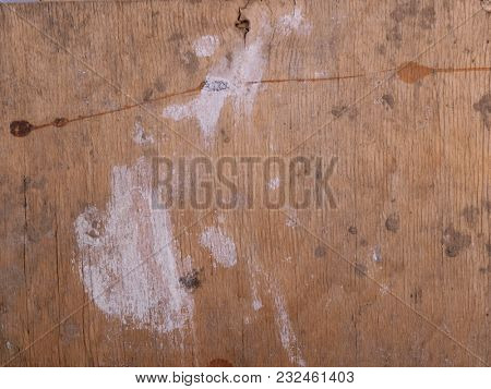 Old wooden wall covered with paint