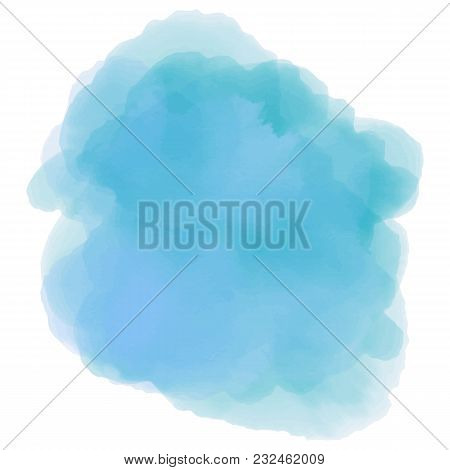 Soft Blue Watercolor Background. Abstract Background For You Design