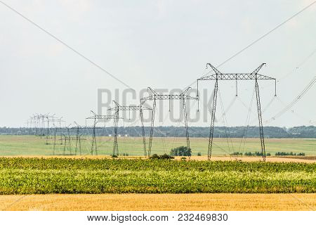Air Line Supports. Intermediate Steel Overhead Transmission Line Supports.