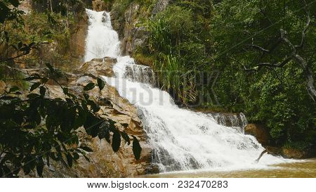Datanla Waterfall In Dalat, Vietnam 2016. Asia Summer