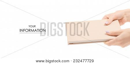 The Diary Notebook In Hand Pattern On White Background Isolation