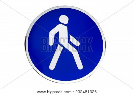 Square With White Border Road Sign 'pedestrian Crossing'
