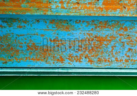 Authentic Colored Wooden Background, Natural Light, Close-up