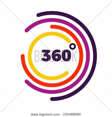 360 Degrees View Related Vector Graphic Element That Can Be Used As A Logo Or Icon For Your Design.
