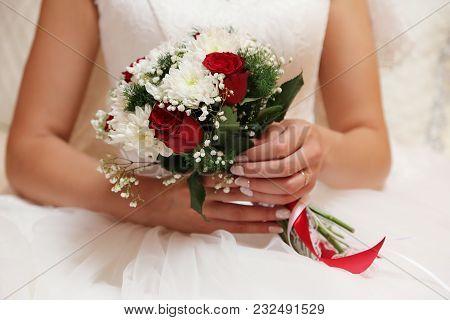 Bridal Bouquet Of Various Flowers