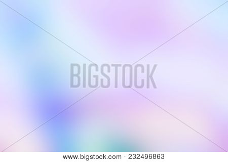 Holographic Foil Blurred Abstract Background In Pastel Neon Trendy Color Design. For Creative Projec