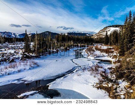 Early Thaw On The Creek, Deer Creek Provincial Recreation Area, Alberta, Canada