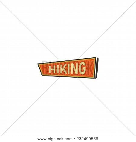 Vintage Hand Drawn Camping Sign, Travel Badge - Hiking. Old Retro Style. Camping Sign For Print, T S