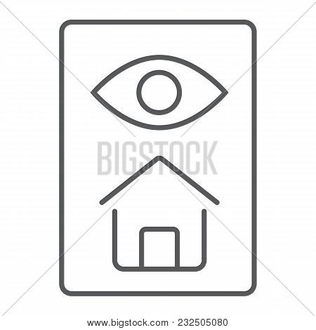 Home Inspection Thin Line Icon, Real Estate And Home, Inspect Sign Vector Graphics, A Linear Pattern