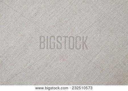 Beige Linen Fabric Texture Background, Detail Closeup
