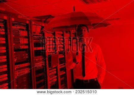 young handsome business man  engineer in 