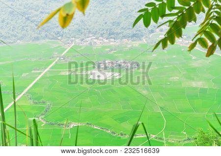 Mai Chau Valley Rural District In The Northwest Region Of Vietnam