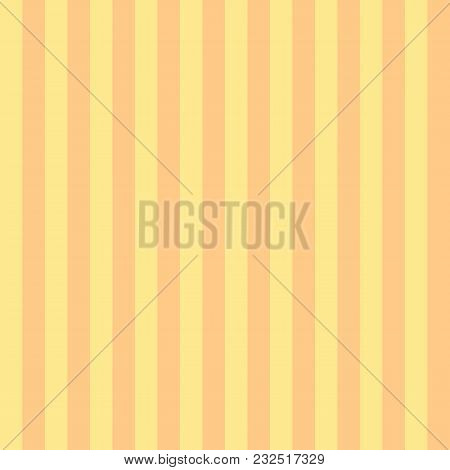Seamless Pattern Stripe Yellow Two Tone Colors. Vertical Stripe Abstract Background Vector Illustrat