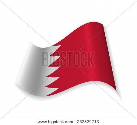 Official Flag Of Bahrain. Country In Asia. Vector Illustration Of A State Symbol.