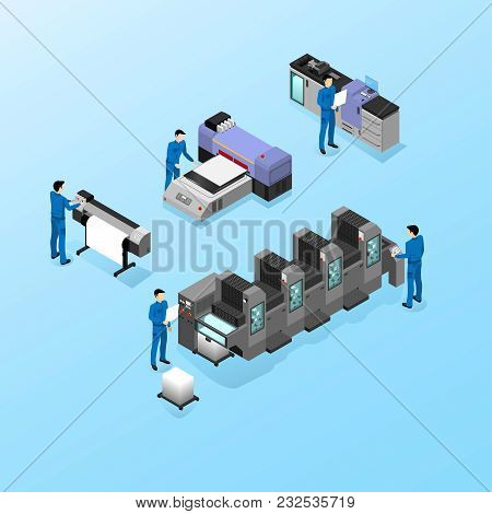 Professional Equipment For Various Types Of Printing In The Field Of Advertising, Offset And Digital