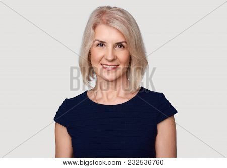 Portrait Of An Attractive Elegant Senior Woman Smiling