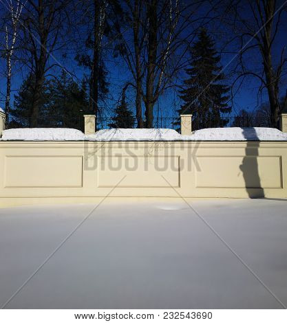 Snow On Symmetric Border Fence Background Hd