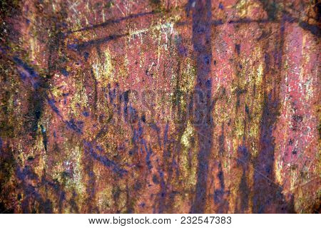 Abstract Background And Texture Of Iron Plate, Metal Sheet, Rusty Iron Plate