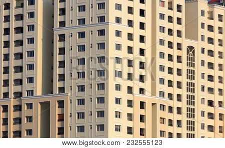 Close up shot of tall apartment building