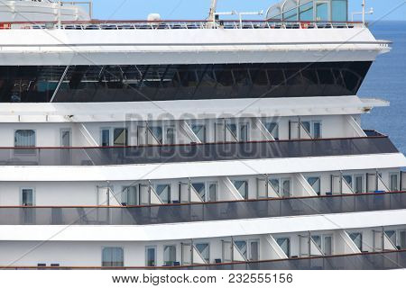 Balcony  suites of the Cruise ship