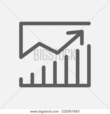 Financial Management Icon Line Symbol. Isolated Vector Illustration Of  Icon Sign Concept For Your W