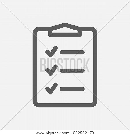 To-do List Icon Line Symbol. Isolated Vector Illustration Of  Icon Sign Concept For Your Web Site Mo