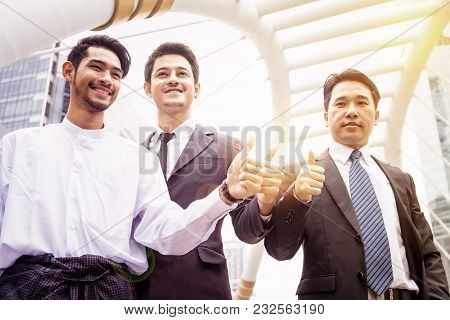Group Of Business People Joining Hand Together