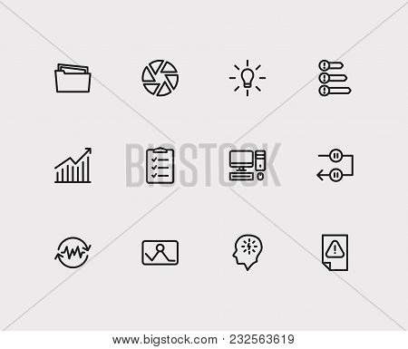 Task Icons Set. Periodic Breaks And Task Icons With Urgent Task, Manage Stress And Group Tasks. Set