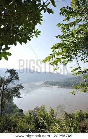 River Mountain Nature Mekong Forest Thailand