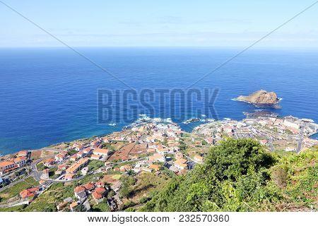 Panoramic View Of Porto Moniz Village, Madeira Island, Portugal