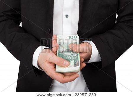 Corruption In Business. Banking Loan, Or Cash Concept.