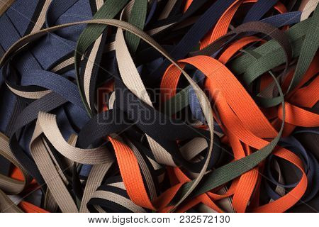 Webbing Straps - Line Abstract > Abstract Of Nylon Straps, Texture Textilies