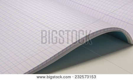 Mathematics Notebook Paper, Geometric Square Design Math