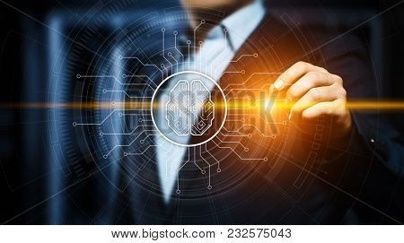 Artificial Intelligence Machine Learning Business Internet Technology Concept.