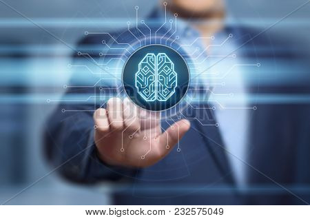 Digital Brain Artificial Intelligence Ai Machine Learning Business Technology Internet Network Conce