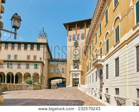 Bergamo, Italy - August 18, 2017: The Building Of The Blessed Episcopal Seminary Giovanni Xxiii