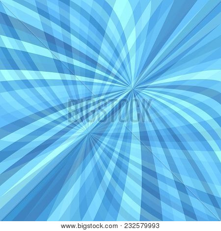 Abstract Curved Ray Burst Background - Vector Graphic From Curves In Light Blue Tones With Opacity E