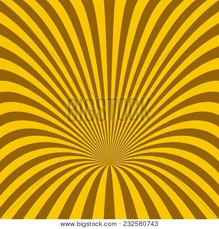 Curved Ray Burst Background - Vector Graphic From Rotated Stripes