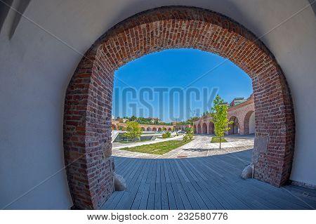 Timisoara, Romania - August 24, 2016: View Of The Bastion Maria Theresia From Timisoara, Romania.