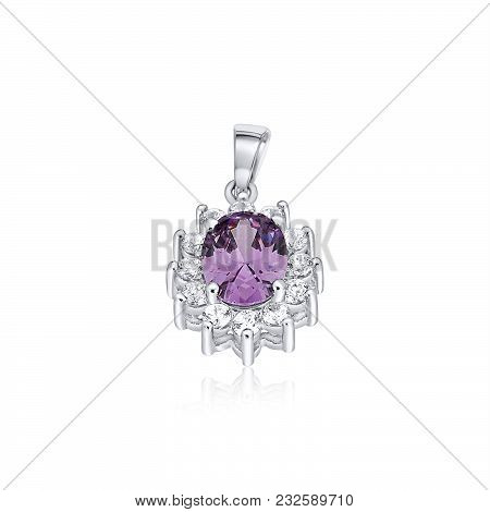 Beautiful And Trendy Pendants For Women That Make A Bold Statement With Elegant Flower Shape Stone B