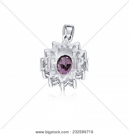 Silver Pendant With Extraordinarily Purple Stone Serve As A Multipurpose Necessity That Outshines In