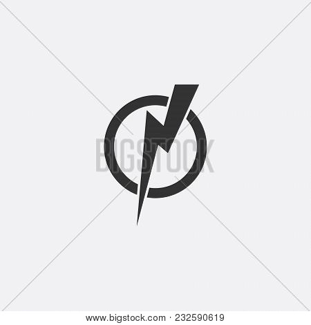 Lightning, Electric Power Vector Icon Design Element. Energy And Thunder Electricity Symbol Concept.