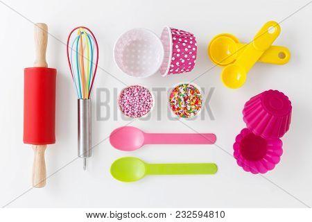 Baking Utensils And Cake Decor