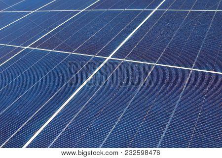 Closeup Detail Of A Photovoltaic Solar Energy Panel