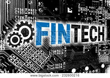 Fintech With Circuit Board Concept Background Picture