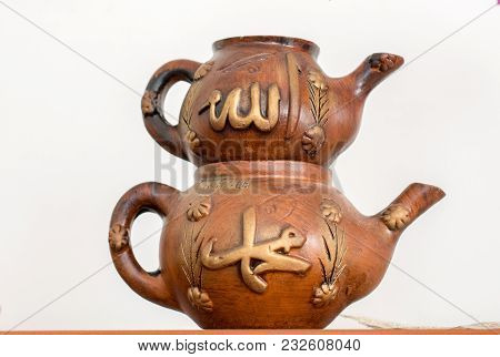 Turkish Tea Pot Made In A Traditional Style