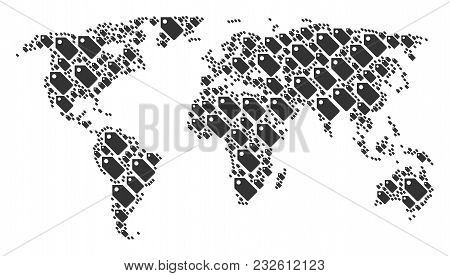 Worldwide map mosaic vector photo free trial bigstock worldwide map mosaic done of tag icons vector tag pictograms are combined into geometric continenta gumiabroncs Images