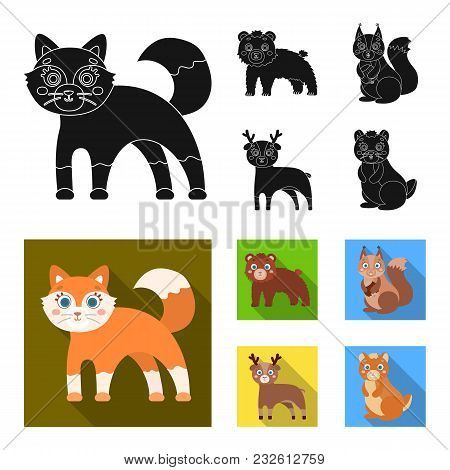 Zoo, Nature, Reserve And Other  Icon In Black, Flat Style.artiodactyl, Nature, Ecology, Icons In Set