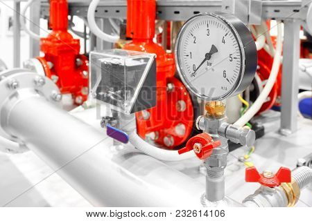 Manual Valve Of Fire Extinguisher System In Power Plant.